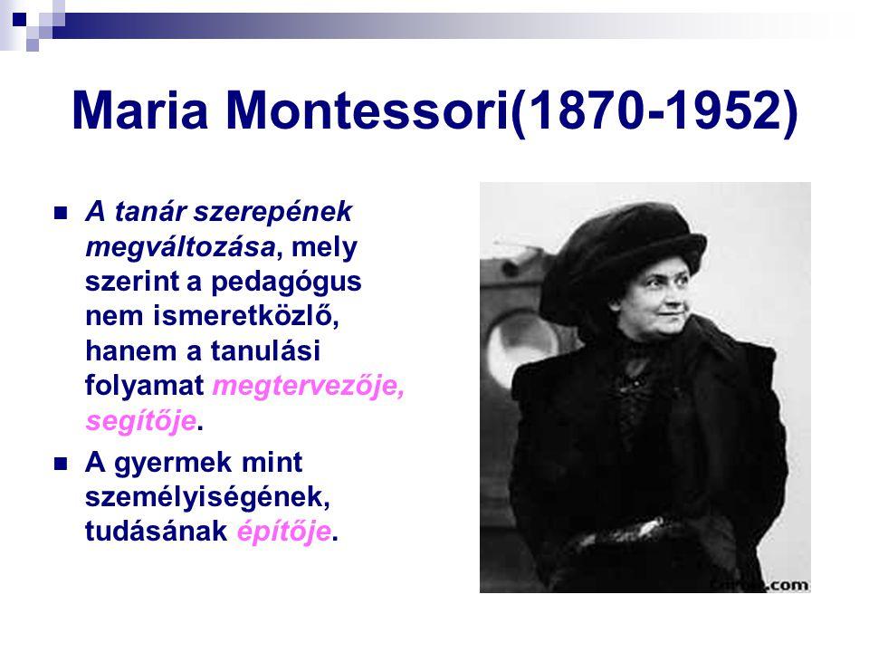 Maria Montessori(1870-1952)