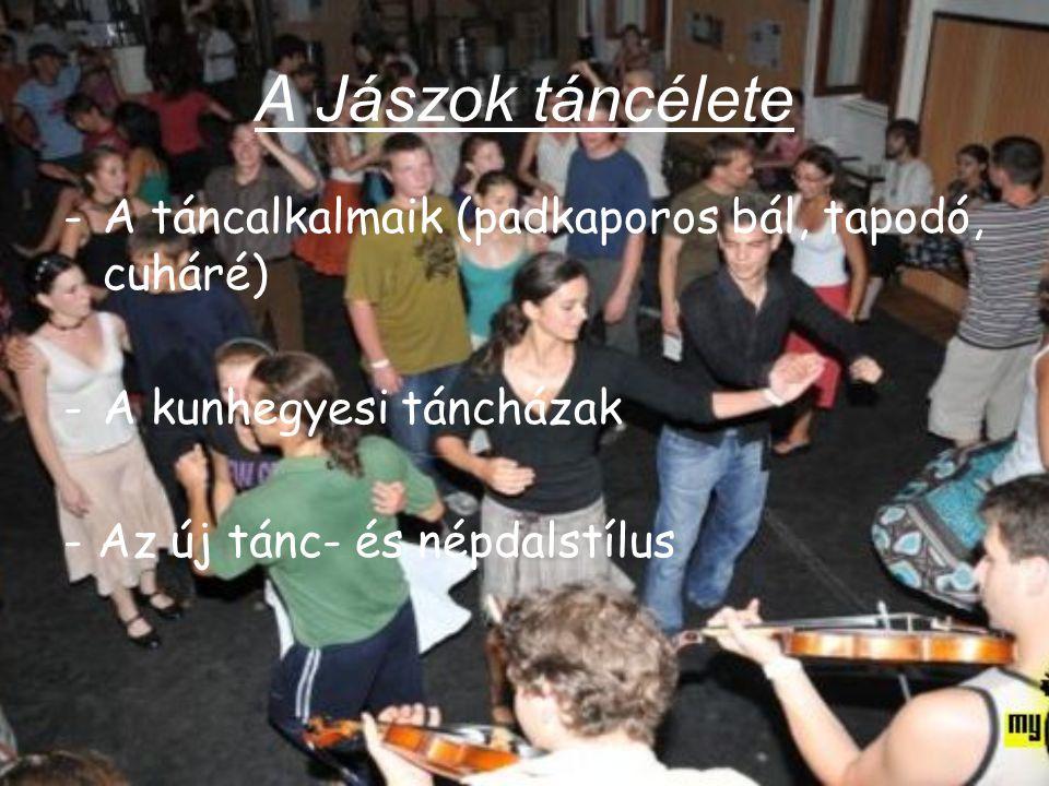 A Jászok táncélete A táncalkalmaik (padkaporos bál, tapodó, cuháré)