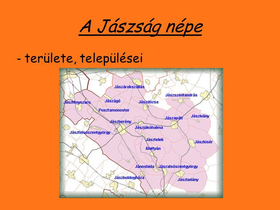 A Jászság népe - területe, települései