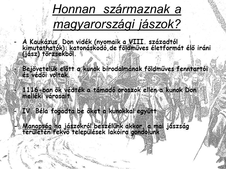 Honnan származnak a magyarországi jászok