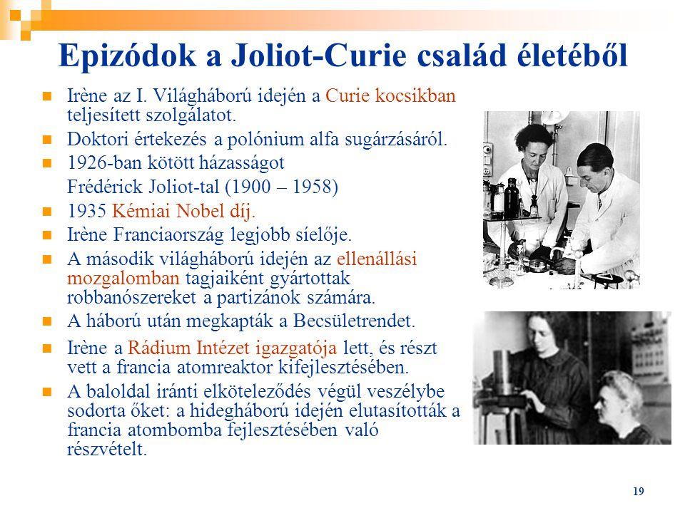 Epizódok a Joliot-Curie család életéből