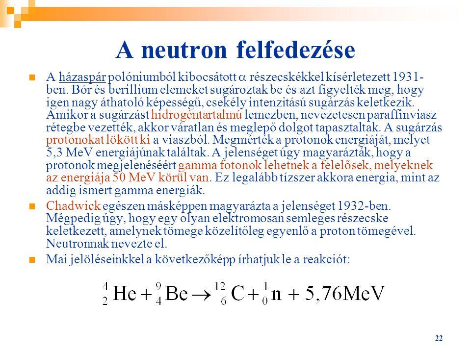 A neutron felfedezése
