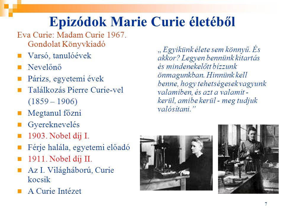 Epizódok Marie Curie életéből