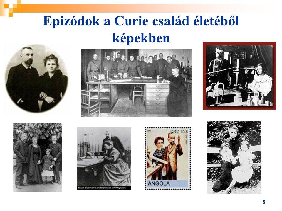 Epizódok a Curie család életéből képekben
