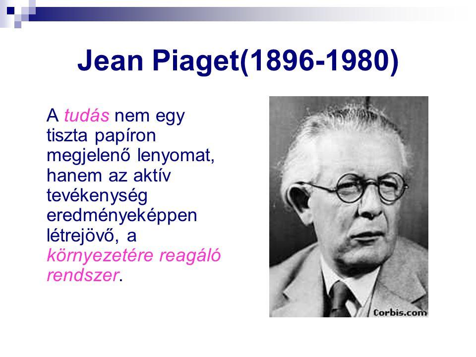 Jean Piaget(1896-1980)