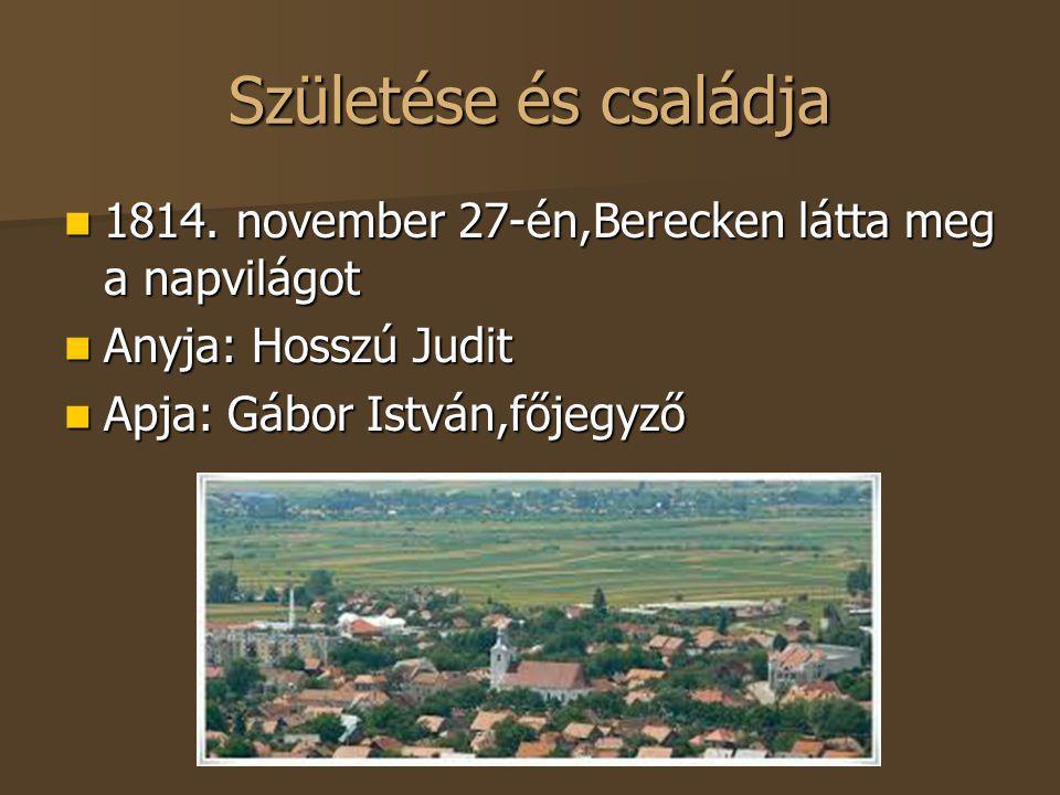 Születése és családja 1814. november 27-én,Berecken látta meg a napvilágot.