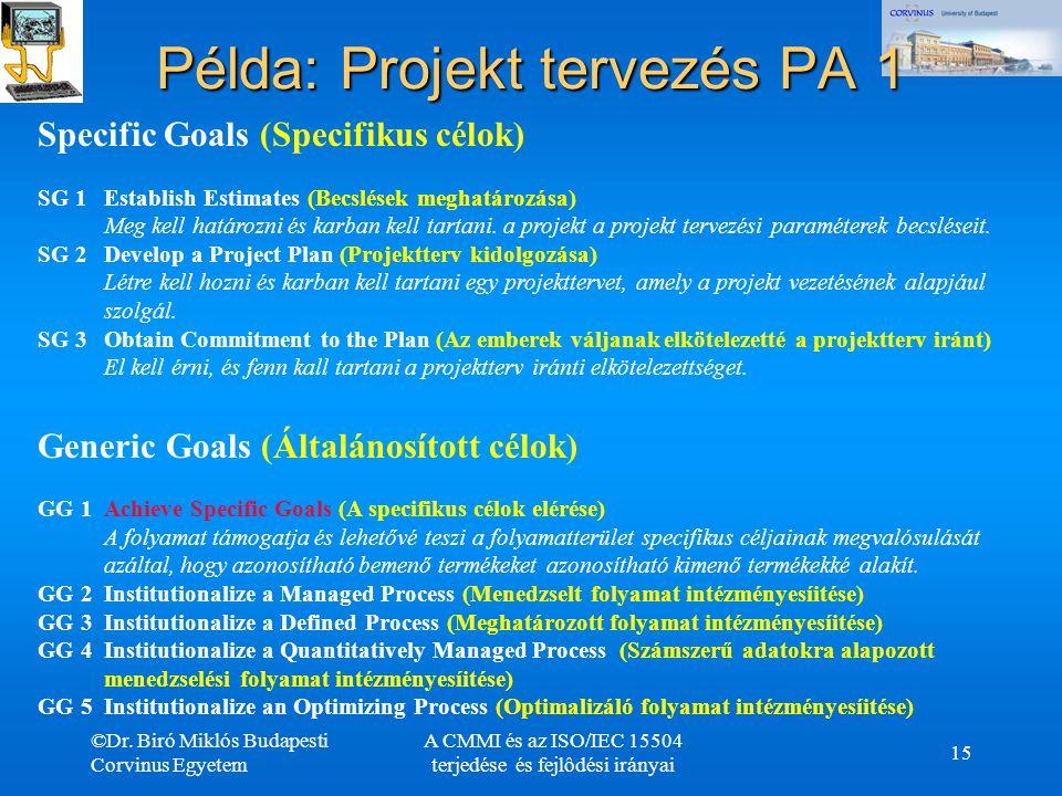 Példa: Projekt tervezés PA 1