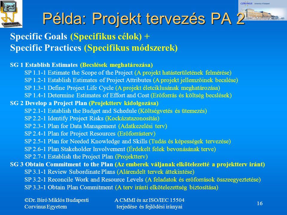 Példa: Projekt tervezés PA 2