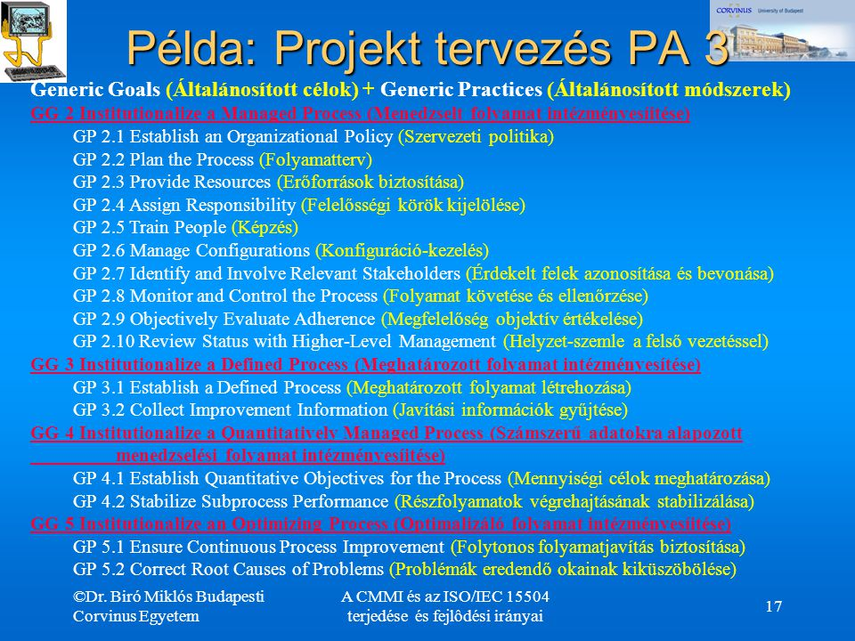 Példa: Projekt tervezés PA 3
