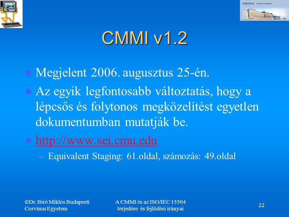 A CMMI és az ISO/IEC 15504 terjedése és fejlôdési irányai