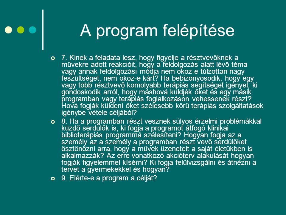 A program felépítése