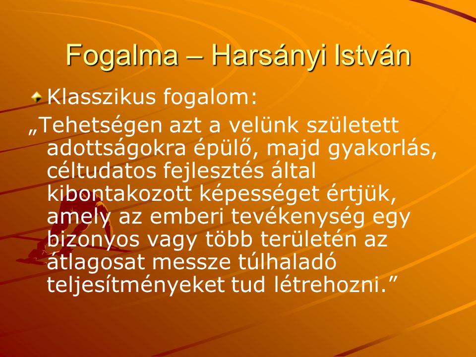 Fogalma – Harsányi István