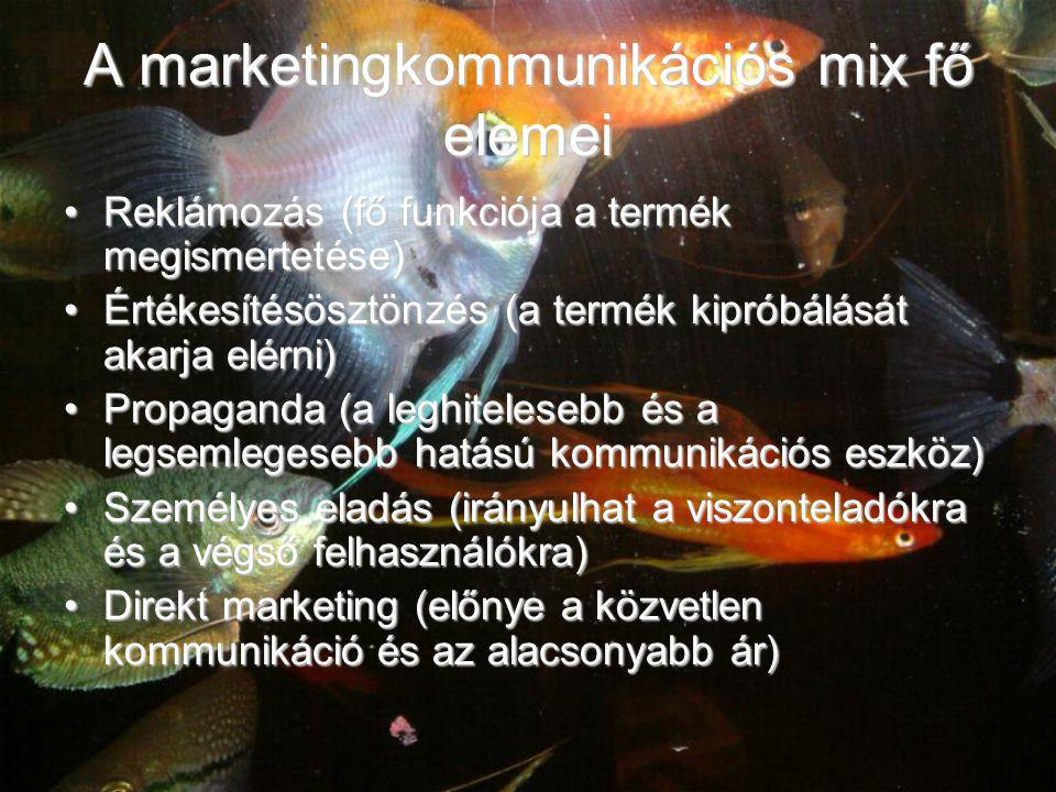 A marketingkommunikációs mix fő elemei