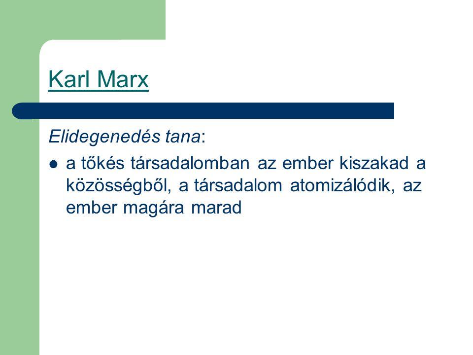 Karl Marx Elidegenedés tana: