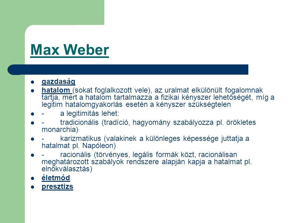 Max Weber gazdaság.