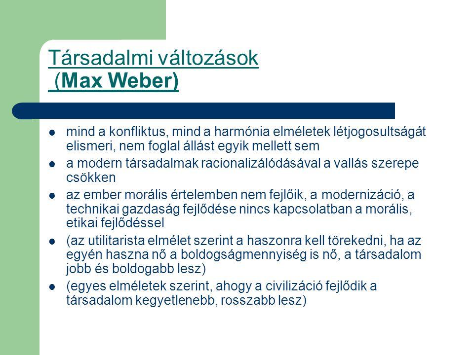 Társadalmi változások (Max Weber)