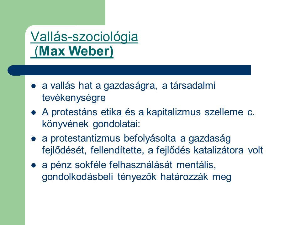Vallás-szociológia (Max Weber)