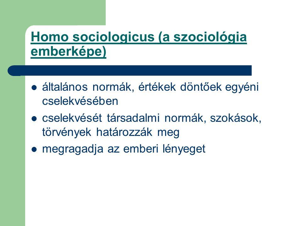 Homo sociologicus (a szociológia emberképe)
