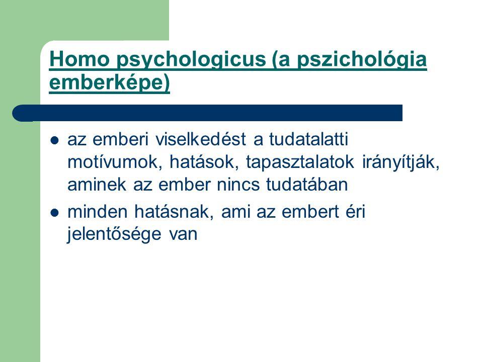 Homo psychologicus (a pszichológia emberképe)