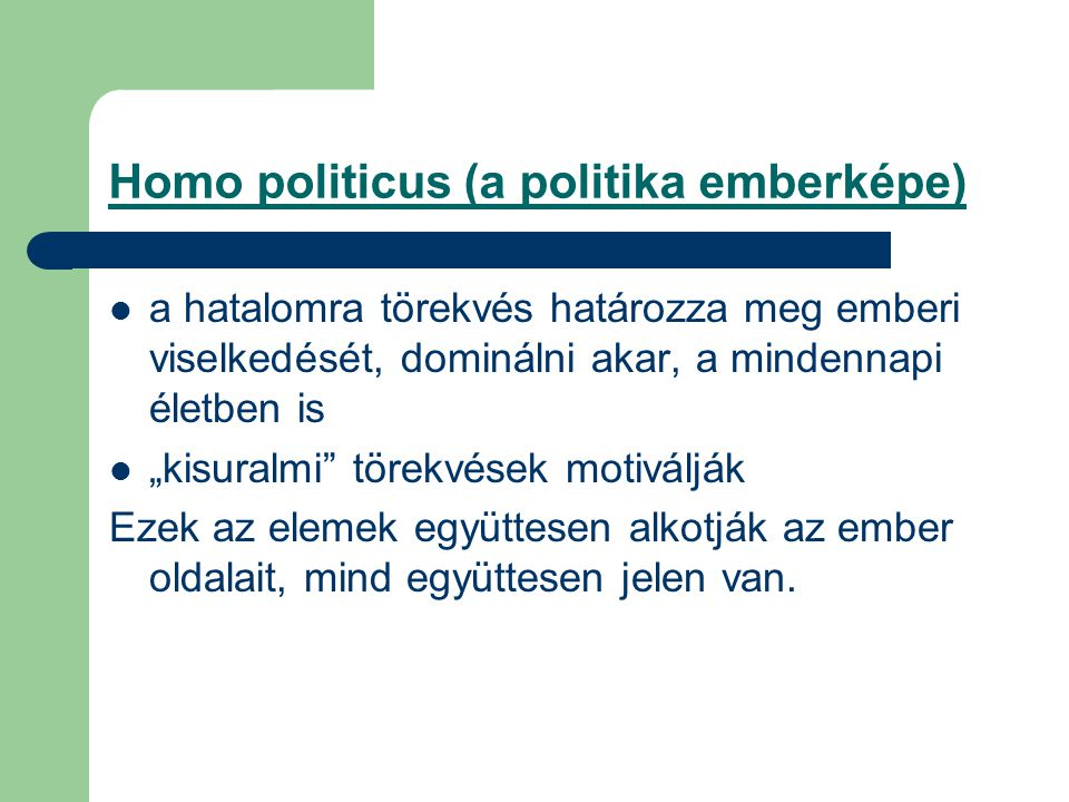 Homo politicus (a politika emberképe)