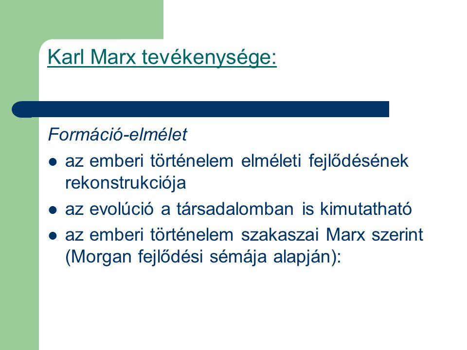 Karl Marx tevékenysége: