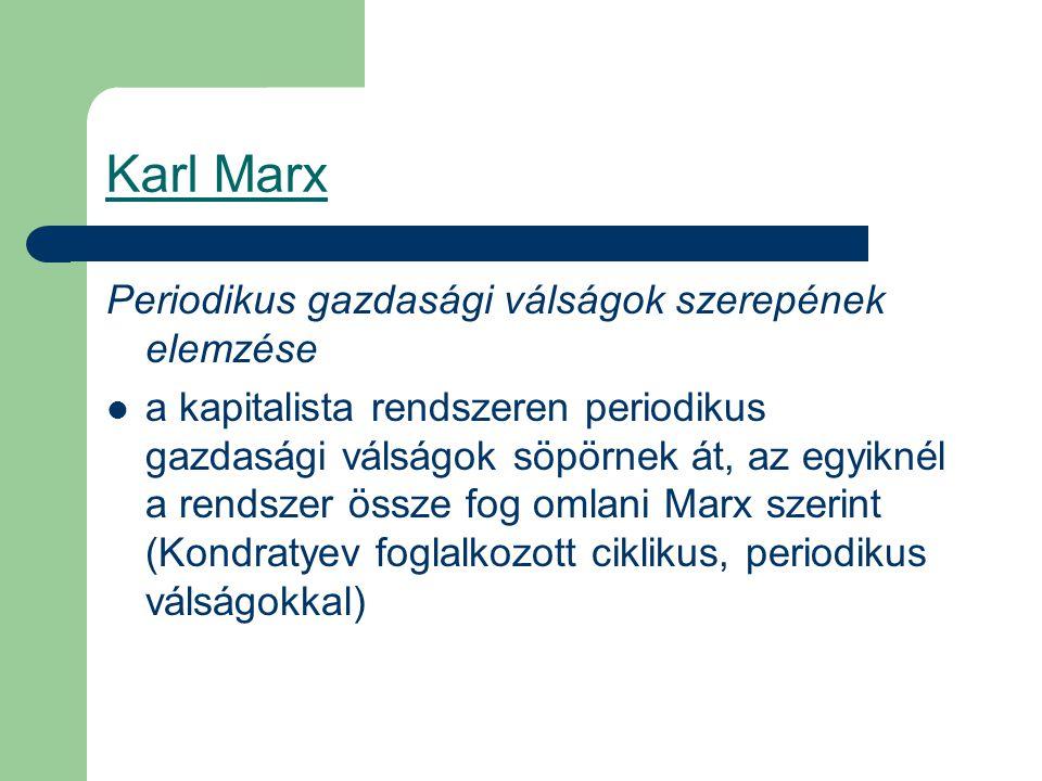 Karl Marx Periodikus gazdasági válságok szerepének elemzése