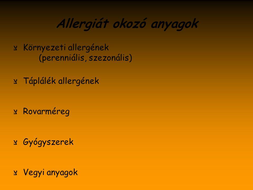 Allergiát okozó anyagok