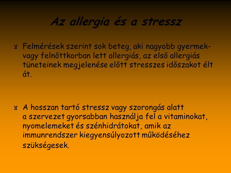 Az allergia és a stressz