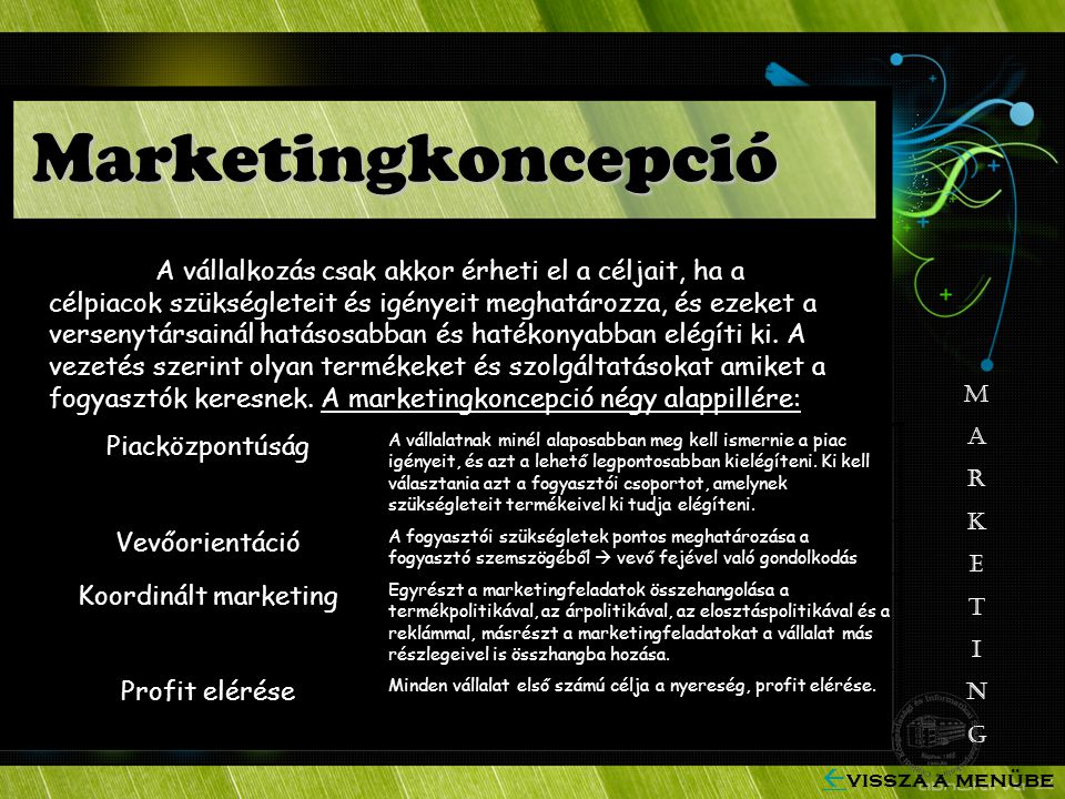 Marketingkoncepció Piacközpontúság