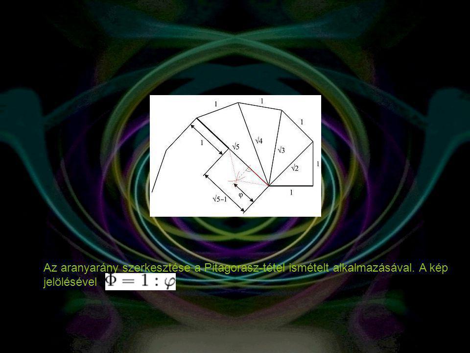 Az aranyarány szerkesztése a Pitagorasz-tétel ismételt alkalmazásával