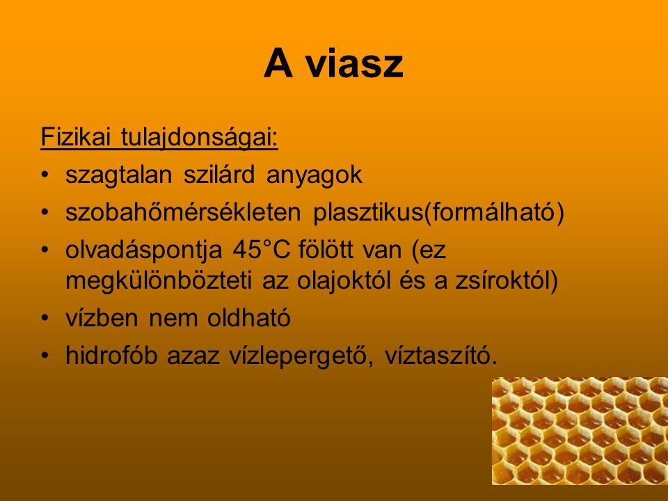 A viasz Fizikai tulajdonságai: szagtalan szilárd anyagok