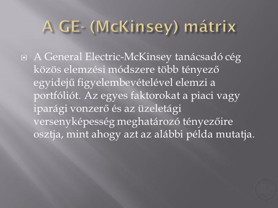 A GE- (McKinsey) mátrix