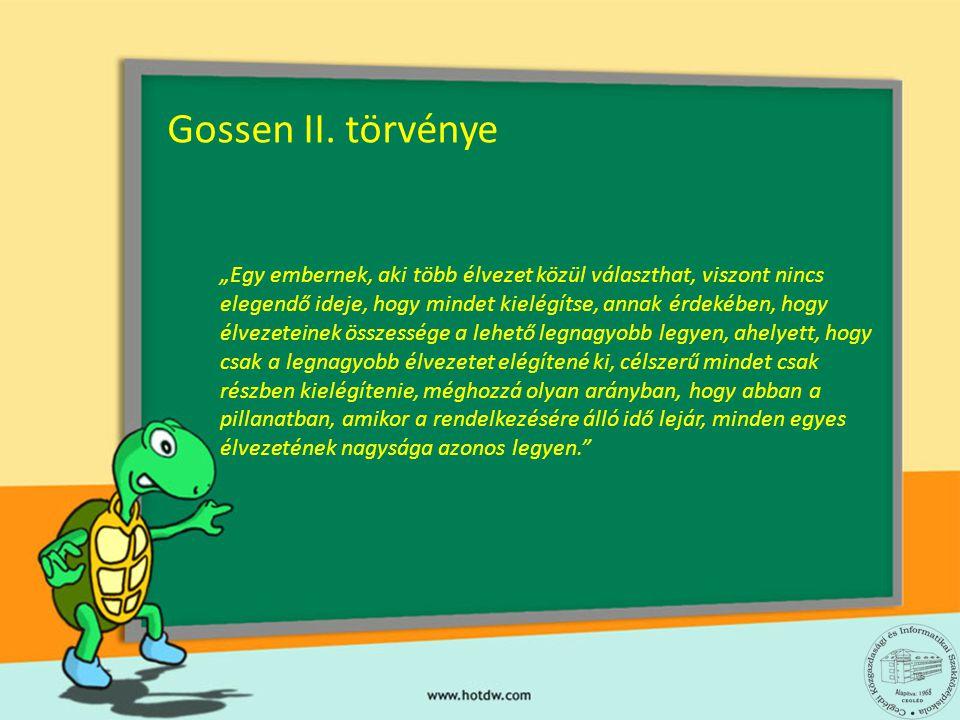 Gossen II. törvénye