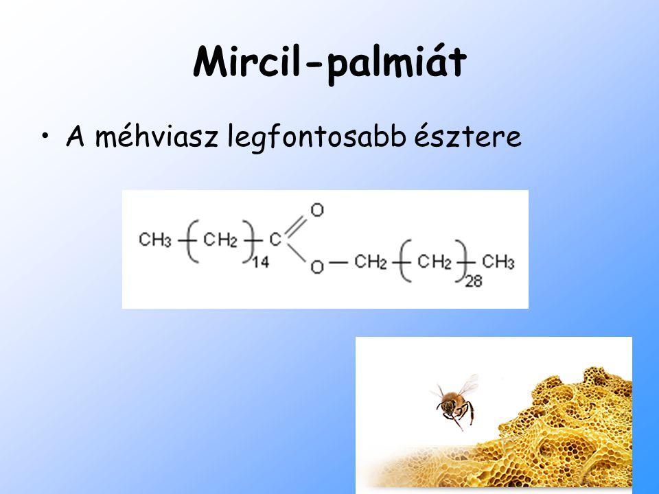 Mircil-palmiát A méhviasz legfontosabb észtere
