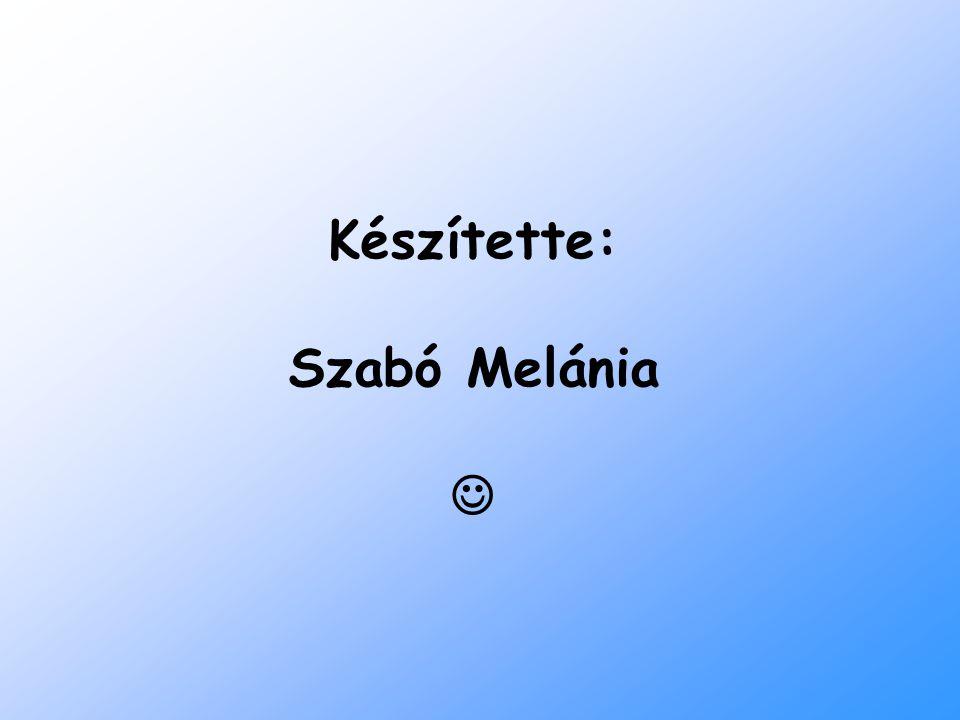 Készítette: Szabó Melánia 