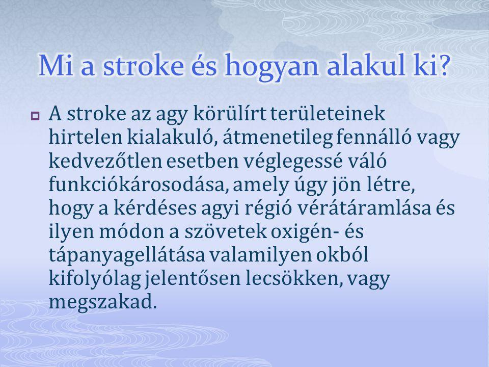 Mi a stroke és hogyan alakul ki