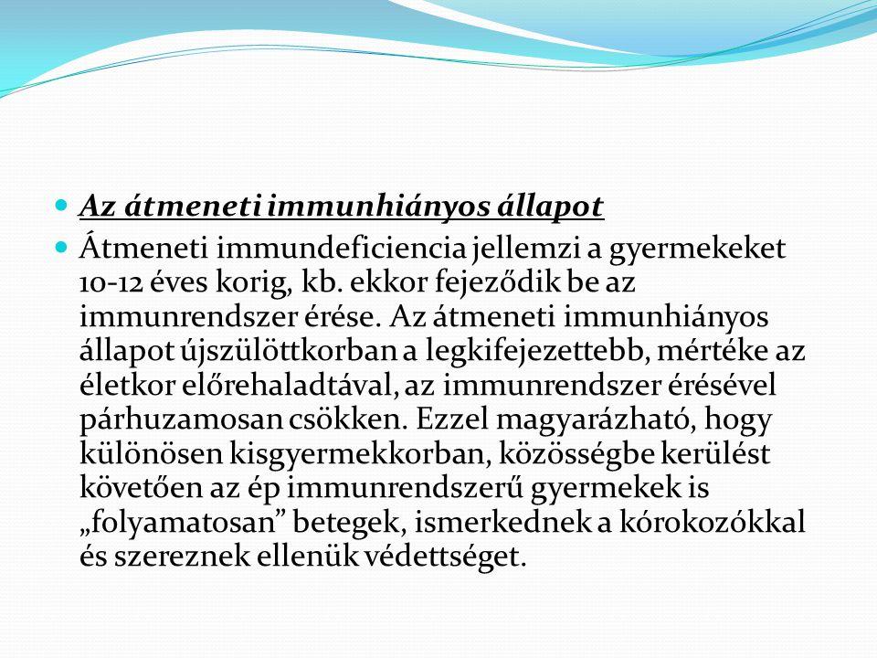 Az átmeneti immunhiányos állapot