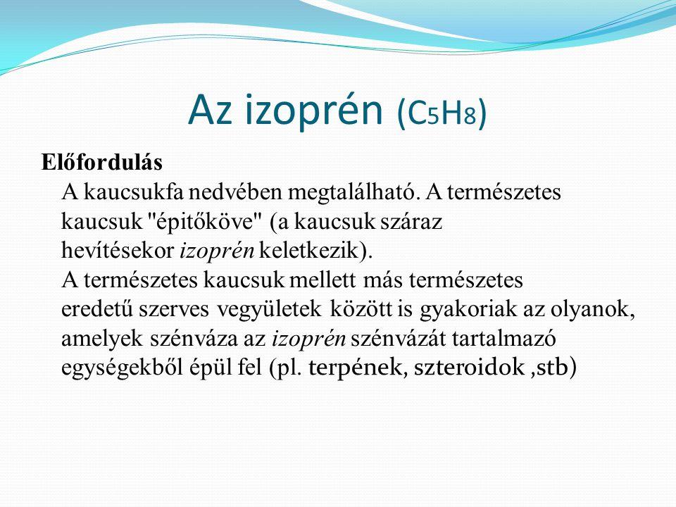 Az izoprén (C5H8)