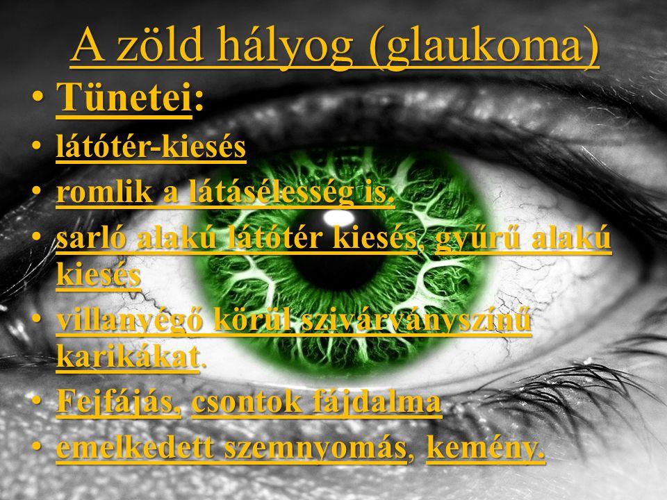 A zöld hályog (glaukoma)