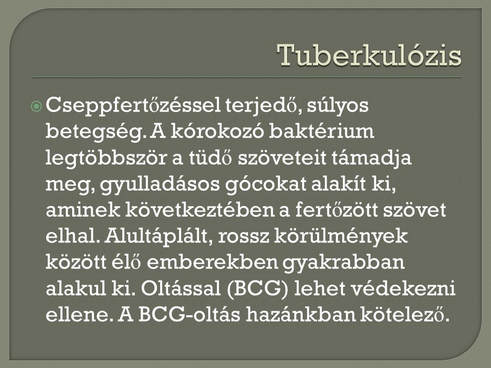 Tuberkulózis