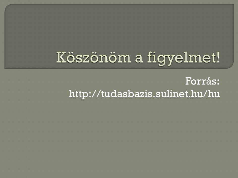 Forrás: http://tudasbazis.sulinet.hu/hu