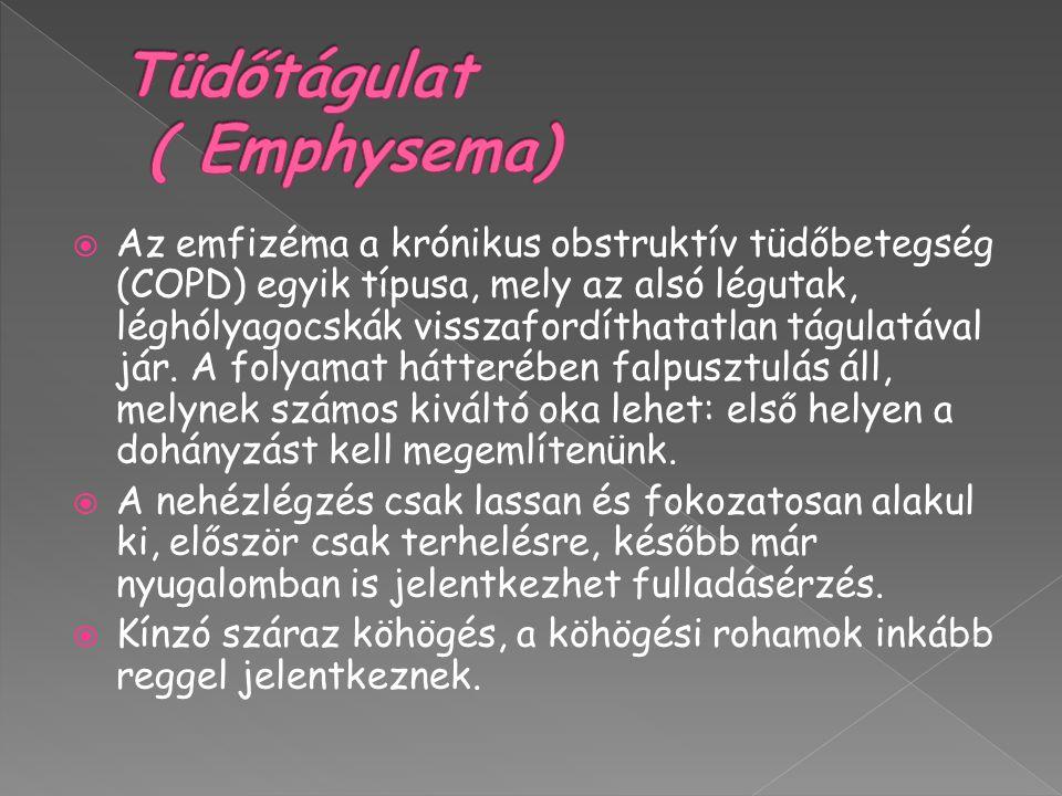 Tüdőtágulat ( Emphysema)