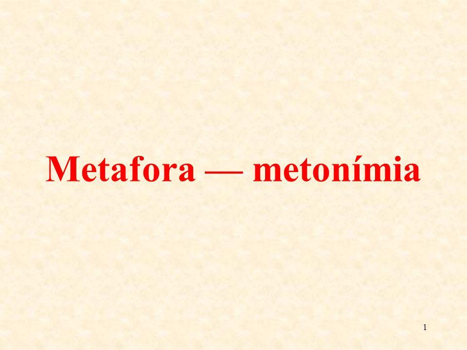 Metafora — metonímia