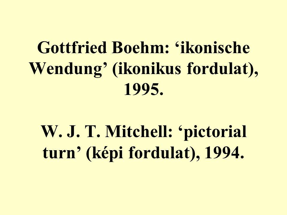 Gottfried Boehm: 'ikonische Wendung' (ikonikus fordulat), 1995.