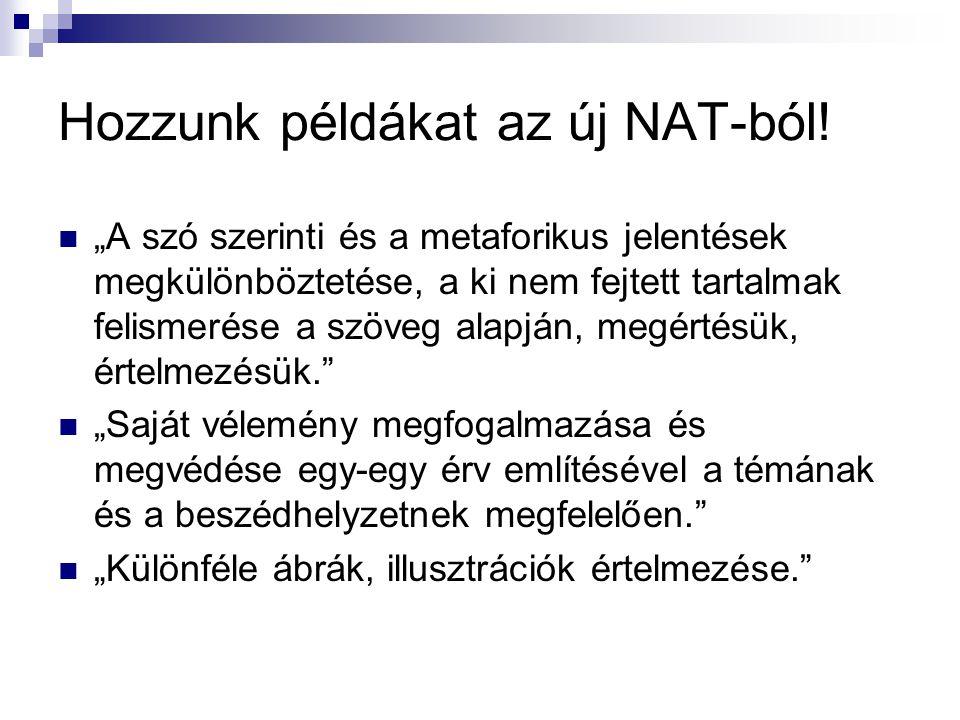 Hozzunk példákat az új NAT-ból!