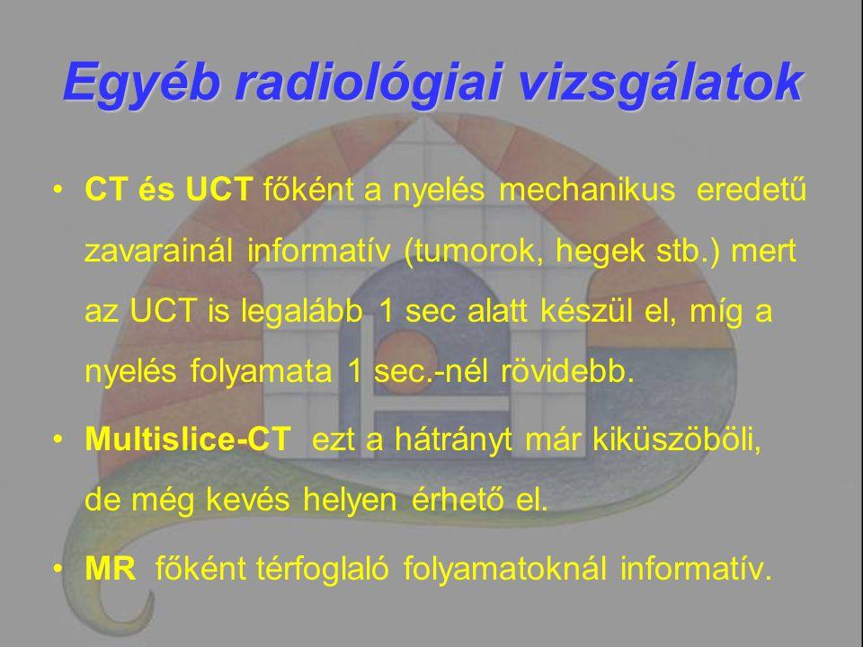 Egyéb radiológiai vizsgálatok