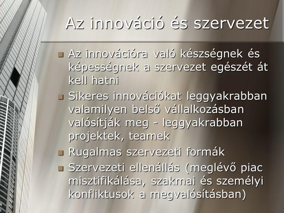 Az innováció és szervezet