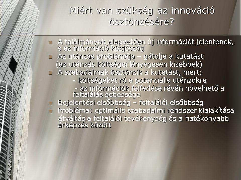 Miért van szükség az innováció ösztönzésére