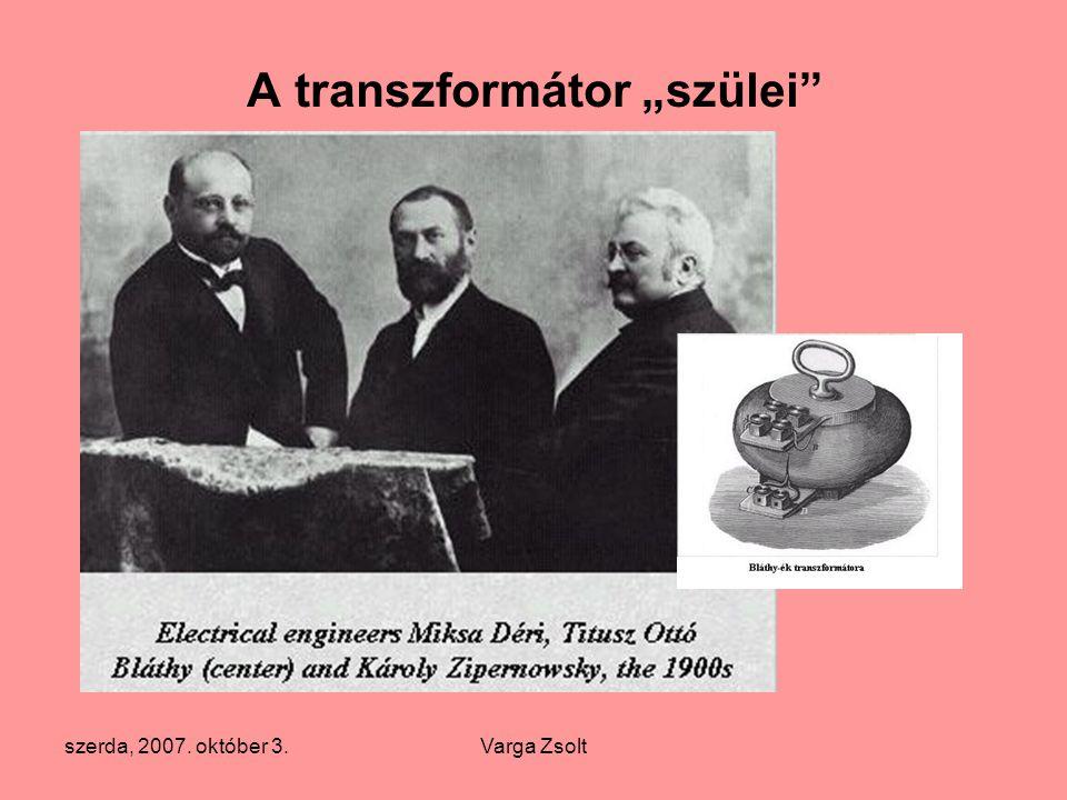 """A transzformátor """"szülei"""