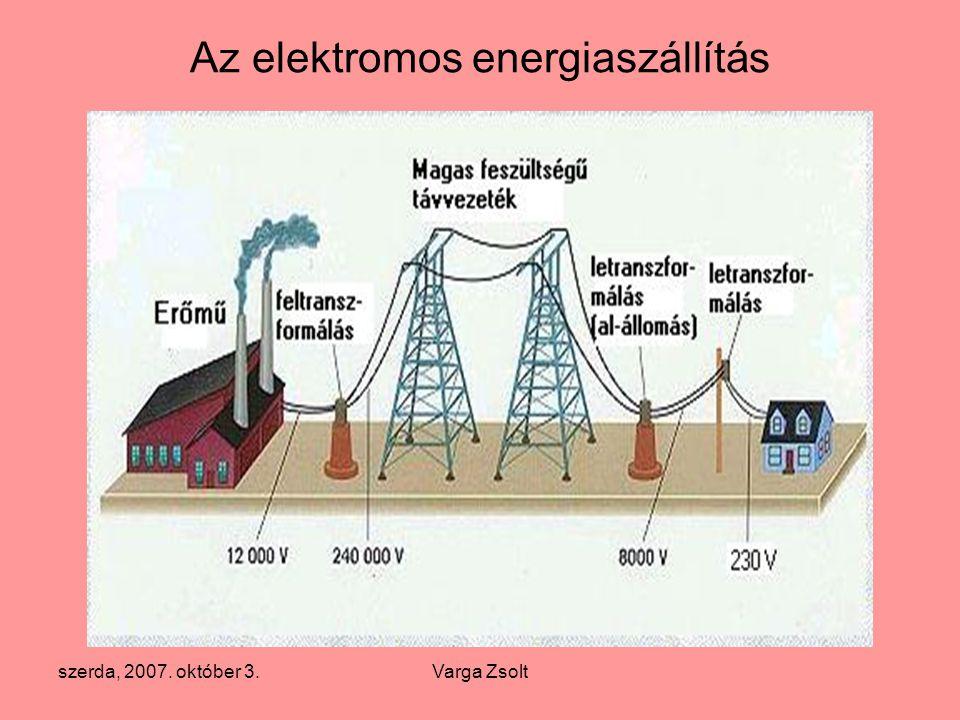 Az elektromos energiaszállítás